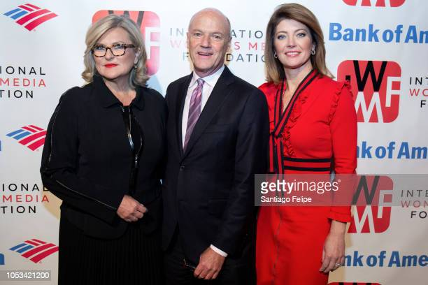 Cynthia McFadden Phil Griffin and Norah O' Donnell attend the 2018 International Women's Media Foundation's Courage In Journalism Awards at Cipriani...