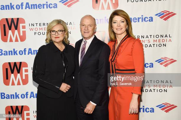 Cynthia McFadden Phil Griffin and Norah O'Donnell attend the International Women's Media Foundation's 2018 Courage in Journalism Awards at Cipriani...