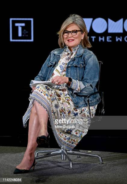Cynthia McFadden speaks during the 10th Anniversary Women In The World Summit at David H Koch Theater at Lincoln Center on April 12 2019 in New York...