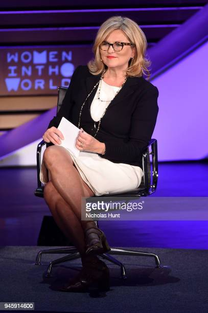 Cynthia McFadden speaks on stage at the 2018 Women In The World Summit at Lincoln Center on April 13, 2018 in New York City.