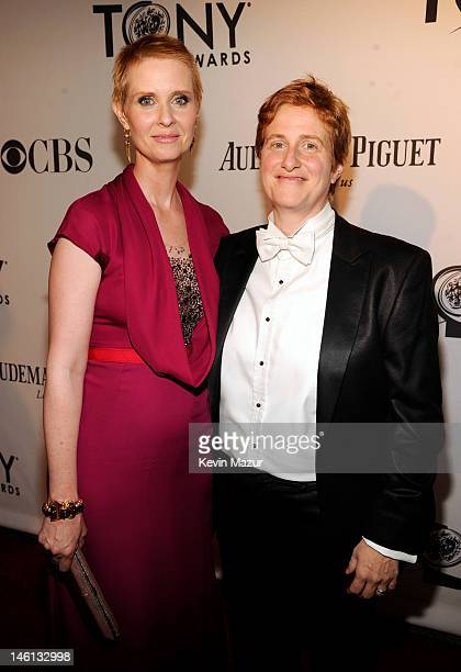 Cynthia Nixon and Christine Marinoni attend the 66th Annual Tony Awards at The Beacon Theatre on June 10, 2012 in New York City.