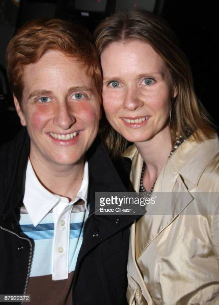 COVERAGE* Cynthia Nixon and Christine Marinoni attend the closing night of 33 Variations on Broadway at the Eugene O'Neill Theatre on May 21 2009 in...