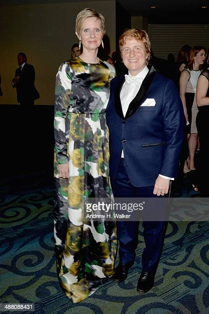 Cynthia Nixon and Christine Marinoni attend the Yahoo News/ABCNews Pre-White House Correspondents' dinner reception pre-party at Washington Hilton on...