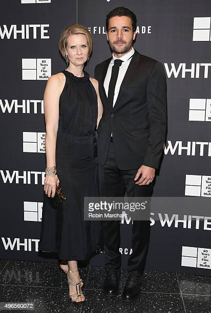 Cynthia Nixon and Christopher Abbott attend Opening Night Of MOMA's Eighth Annual Contenders Featuring The Film Arcade's JAMES WHITE on November 10...