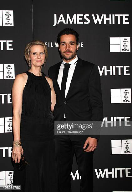 Cynthia Nixon and Christopher Abbott attend the 'James White' New York Premiere at Museum of Modern Art on November 10 2015 in New York City