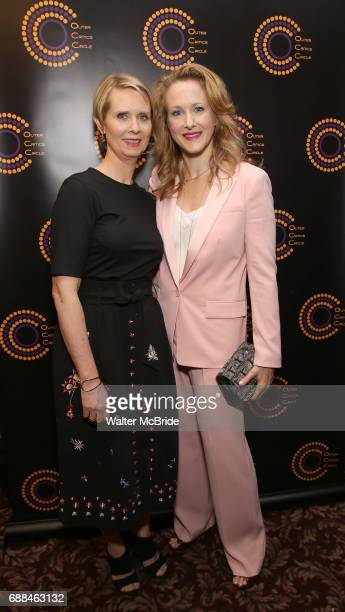 Cynthia Nixon and Katie Finneran attend the 67th Annual Outer Critics Circle Theatre Awards at Sardi's on May 25 2017 in New York City