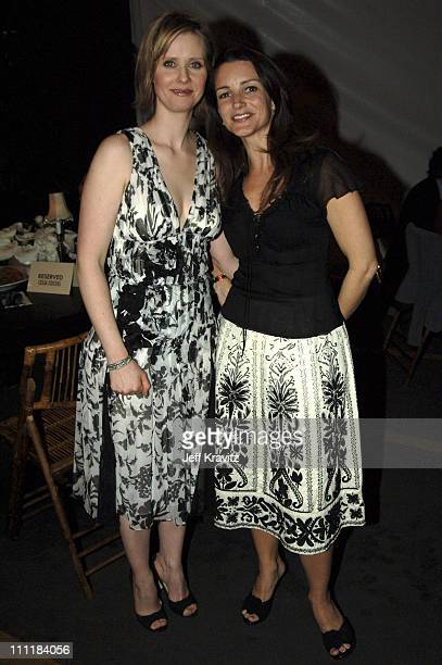 Cynthia Nixon and Kristin Davis during HBO Films Presents 'Warm Springs' Los Angeles Premiere After Party at Egyptian Theatre in Los Angeles...