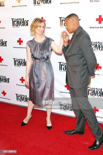 Cynthia Nixon and Terrence Howard during Conde Nast Traveler Hot List Party Red Carpet at The Bowery Hotel at 335 Bowery and East 3rd Street in New...