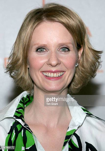 Cynthia Nixon at the AMC Loews Lincoln Square The Premiere Film Music Lounge in New York New York