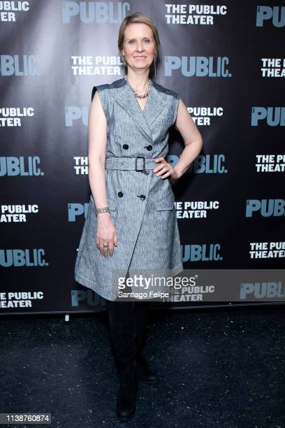Cynthia Nixon attends 'Ain't No Mo' opening night at The Public Theater on March 27, 2019 in New York City.