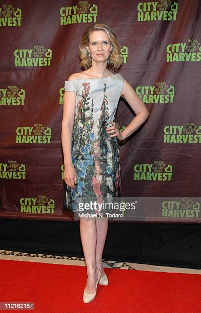 "Cynthia Nixon attends City Harvest's 17th Annual ""An Evening of Practical Magic"" at Cipriani 42nd Street on April 13, 2011 in New York City."
