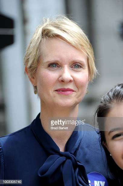 Cynthia Nixon attends OZY Fest 2018 at Rumsey Playfield Central Park on July 21 2018 in New York City