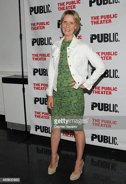 Cynthia Nixon attends 'Rock Bottom' Opening Night Celebration at The Public Theater on September 17 2014 in New York City