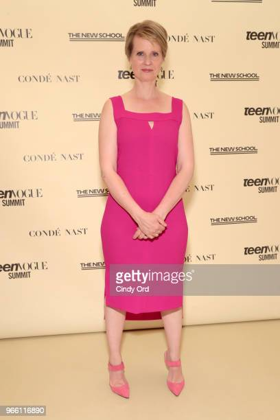 Cynthia Nixon attends Teen Vogue Summit 2018: #TurnUp - Day 2 at The New School on June 2, 2018 in New York City.