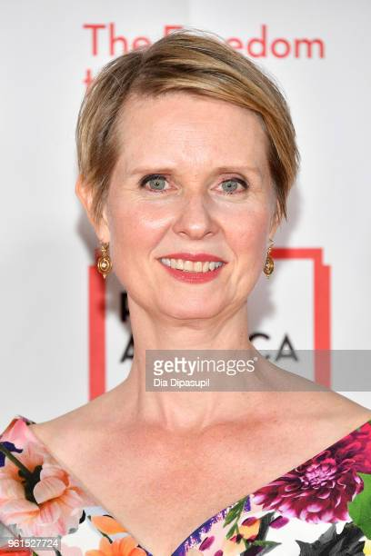 Cynthia Nixon attends the 2018 PEN Literary Gala at the American Museum of Natural History on May 22 2018 in New York City