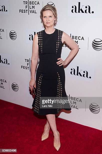 Cynthia Nixon attends 'The Adderall Diaries' premiere during the 2015 Tribeca Film Festival at the BMCC in New York City �� LAN