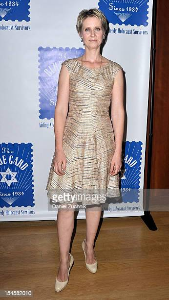 Cynthia Nixon attends the Blue Card 2012 Benefit at The Morgan Library Museum on October 22 2012 in New York City