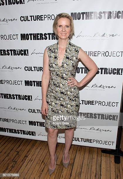 "Cynthia Nixon attends the ""MotherStruck!"" opening night at the Lynn Redgrave Theatre on December 14, 2015 in New York City."
