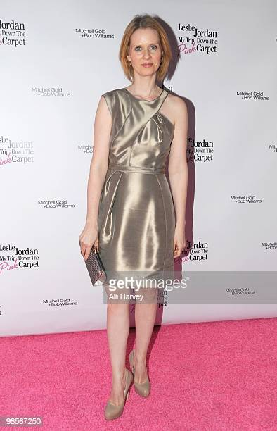 Cynthia Nixon attends the OffBroadway opening night of 'My Trip Down The Pink Carpet' at The Midtown Theater on April 19 2010 in New York City