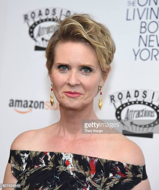 Cynthia Nixon attends The Only Living Boy In New York New York Premiere at The Museum of Modern Art on August 7 2017 in New York City