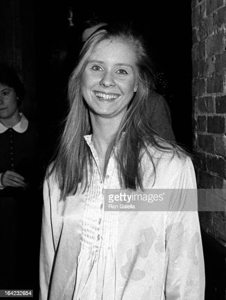 Cynthia Nixon attends the performance party for The Real Thing on January 5 1984 at Tavern on the Green in New York City