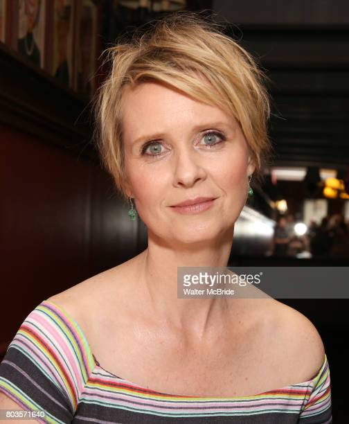 Cynthia Nixon attends the portrait unveilings of Laura Linney and Cynthia Nixon starring on Broadway in the Manhattan Theatre Club's THE LITTLE FOXES...