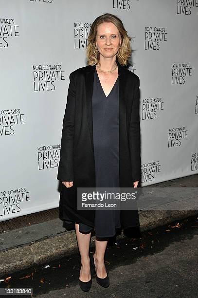 Cynthia Nixon attends the 'Private Lives' Broadway opening night at the Music Box Theatre on November 17 2011 in New York City
