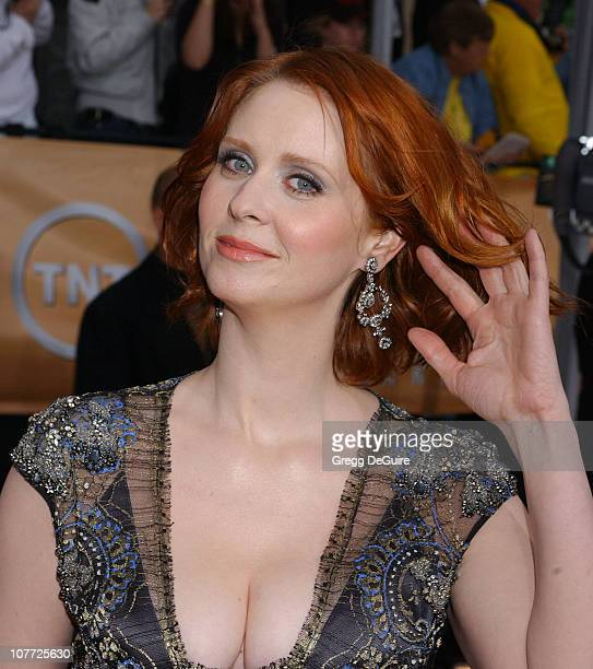 Cynthia Nixon during 10th Annual Screen Actors Guild Awards Arrivals at Shrine Auditorium in Los Angeles California United States
