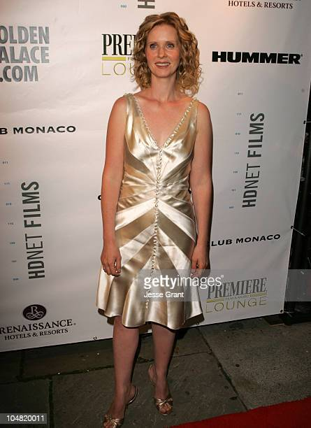 Cynthia Nixon during 2005 Toronto Film Festival 'HD Net Films' Party at Premiere Lounge at Club Monaco in Toronto Canada