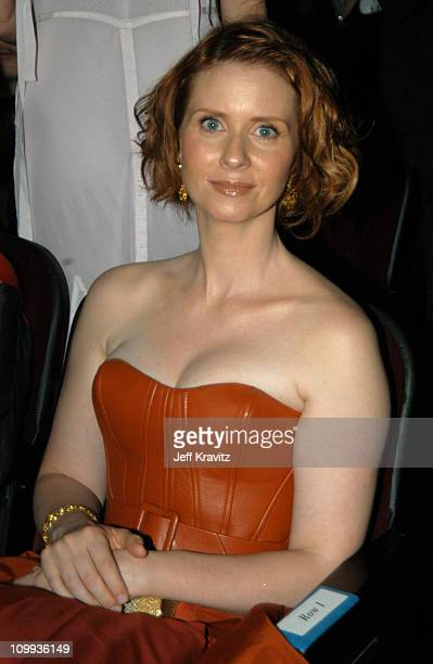 Cynthia Nixon during 55th Annual Primetime Emmy Awards Backstage and Audience at The Shrine Auditorium in Los Angeles California United States