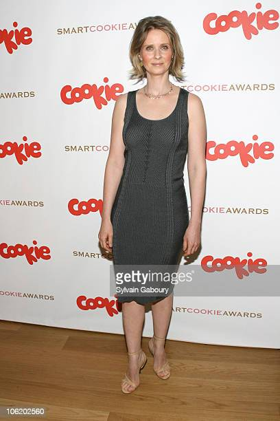 Cynthia Nixon during Cookie Magazine's First Annual 'Smart Cookie Awards' Arrivals at Morgan Library Museum at 225 Madison Avenue and 36th Street in...