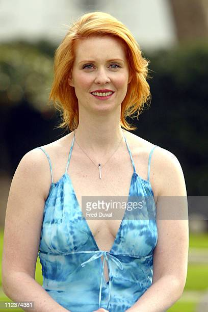 """Cynthia Nixon during Cynthia Nixon Announced as the New Face Of """"Oral-B"""" at Hempel Hotel in London, Great Britain."""