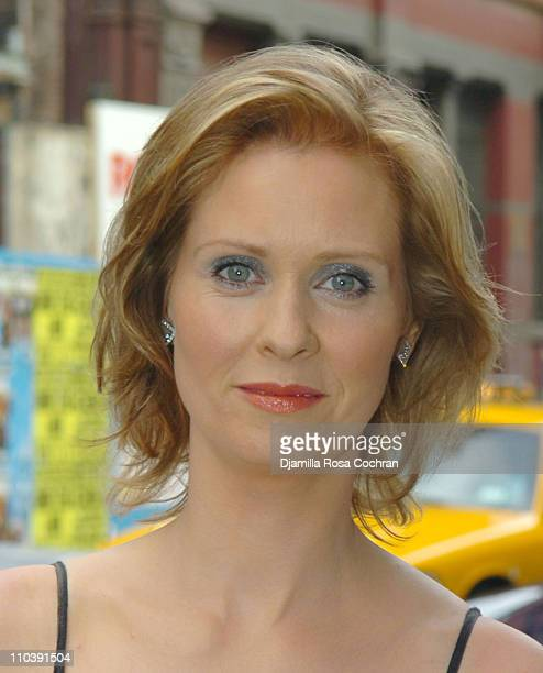 Cynthia Nixon during Cynthia Nixon Sighting in New York City June 15 2005 at Street of New York City in New York City New York United States