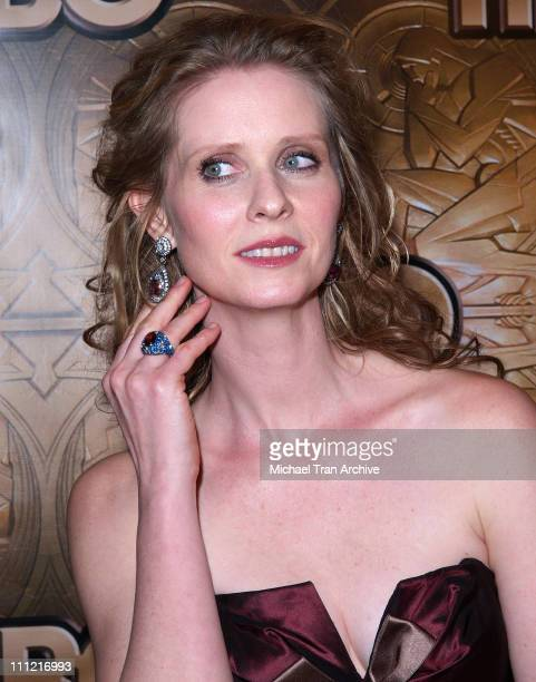 Cynthia Nixon during HBO 2006 Golden Globes After Party Arrivals at Beverly Hills Hilton in Beverly Hills California United States
