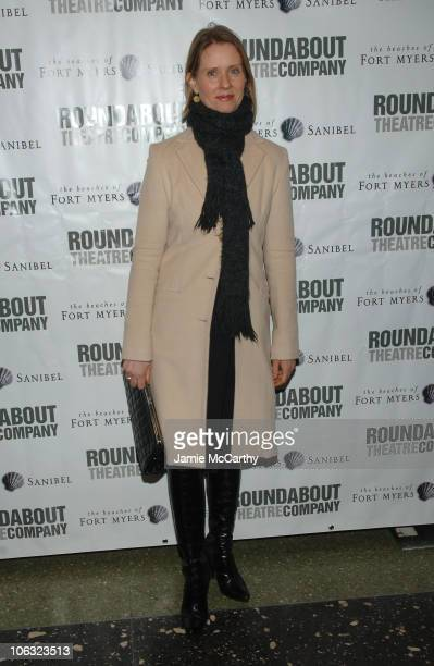 Cynthia Nixon during Roundabout Theatre Company's 2007 Spring Gala at Roseland Ballroom in New York City New York United States