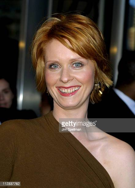 Cynthia Nixon during 'Sex and the City' New York City Premiere at Lincolm Square Theatre in New York City New York United States