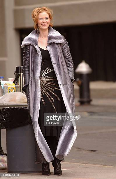 Cynthia Nixon during Sex and the City Promo Shoot at Brooklyn New York in New York NY United States