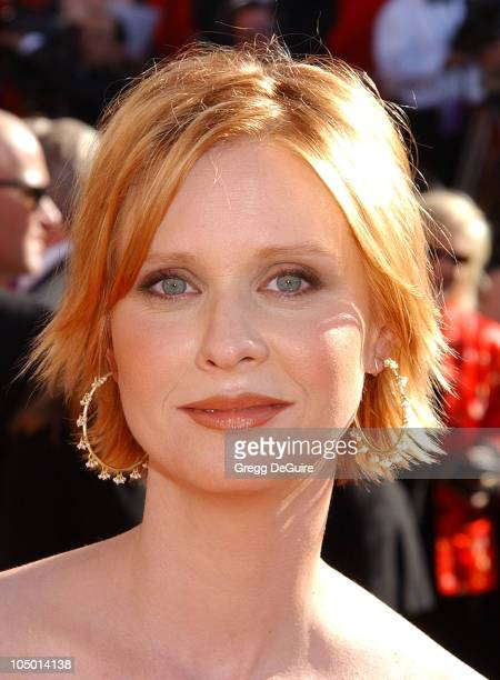 Cynthia Nixon during The 54th Annual Primetime Emmy Awards Arrivals at The Shrine Auditorium in Los Angeles California United States