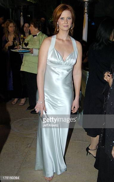 Cynthia Nixon during The 61st Annual Golden Globe Awards HBO After Party at Griff's Restaurant in Beverly Hills California United States