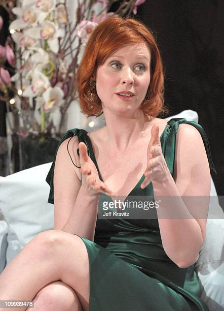 Cynthia Nixon during The Acadamy Of Arts Sciences Presents Behind the Scenes of Sex and the City Taping at The Puck Building in New York City New...