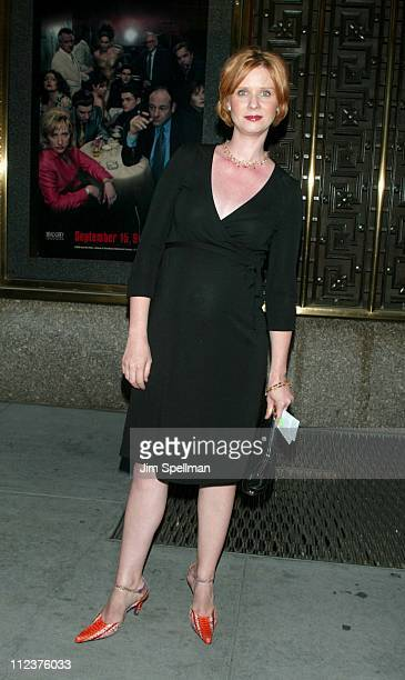 Cynthia Nixon during The Sopranos 4th Season Premiere at Radio City Music Hall in New York City New York United States