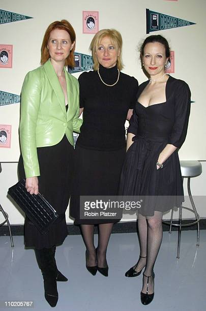 Cynthia Nixon Edie Falco and Bebe Neuwirth during Drama Dept Presents 'What Fresh Hell is This An Evening of Dorothy Parker' at Tribeca Rooftop in...