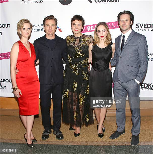 Cynthia Nixon Ewan McGregor Maggie Gyllenhaal Madeline Weinstein and Josh Hamilton attend the Roundabout Theatre Company's Broadway Opening Night...