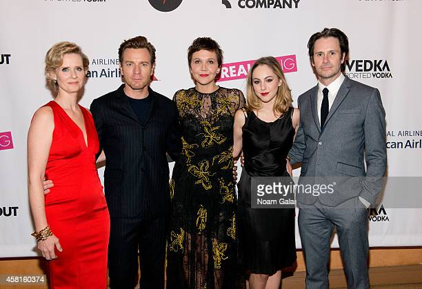 Cynthia Nixon Ewan McGregor Maggie Gyllenhaal Madeline Weinstein and Josh Hamilton attend the opening night of The Real Thing on Broadway at American...