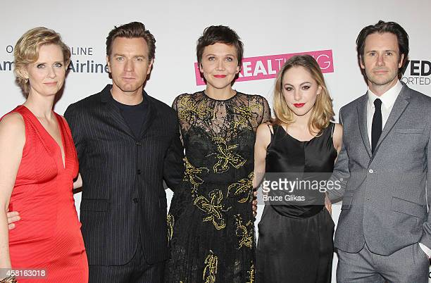 Cynthia Nixon Ewan McGregor Maggie Gyllenhaal Madeline Weinstein and Josh Hamilton at The Opening Night of The Real Thing on Broadway at American...