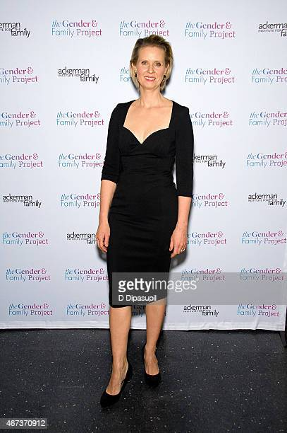 Cynthia Nixon hosts the Ackerman Institute's Gender Family Project's 'A Night of a Thousand Genders' at Joe's Pub on March 23 2015 in New York City