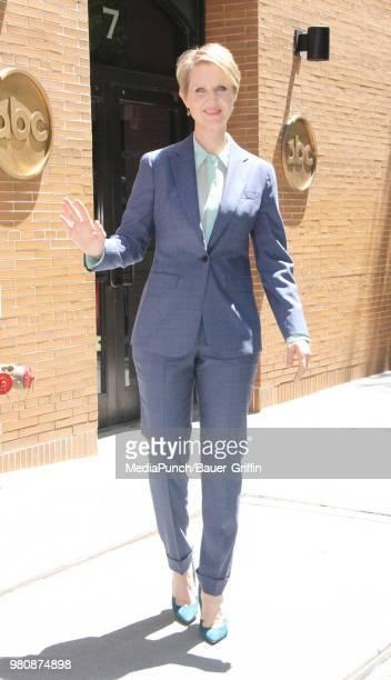 Cynthia Nixon is seen on June 21 2018 in New York City