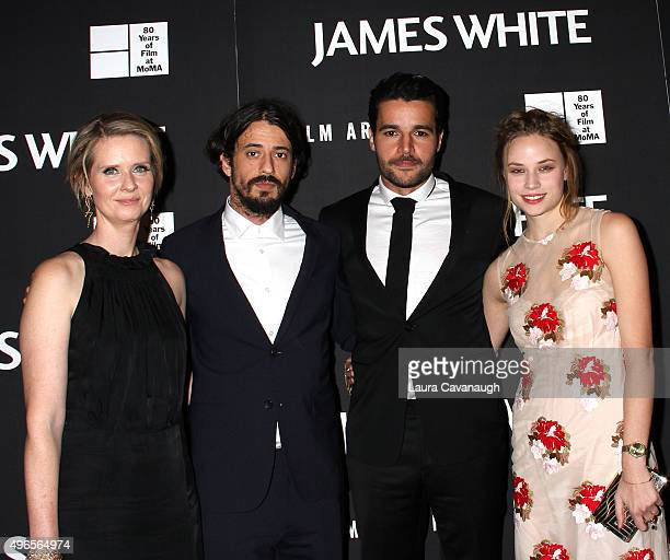 Cynthia Nixon Josh Mond Christopher Abbott and Makenzie Leigh attend the James White New York Premiere at Museum of Modern Art on November 10 2015 in...