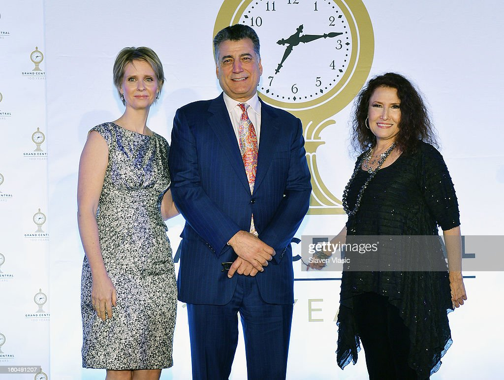 Cynthia Nixon, Keith Hernandez and Melissa Manchester attend Grand Central Terminal 100th Anniversary Celebration at Grand Central Terminal on February 1, 2013 in New York City.