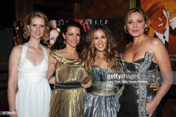 Cynthia Nixon Kristin Davis Sarah Jessica Parker and Kim Cattrall at the 'Sex And The City' New York Premiere held at Radio City Music Hall